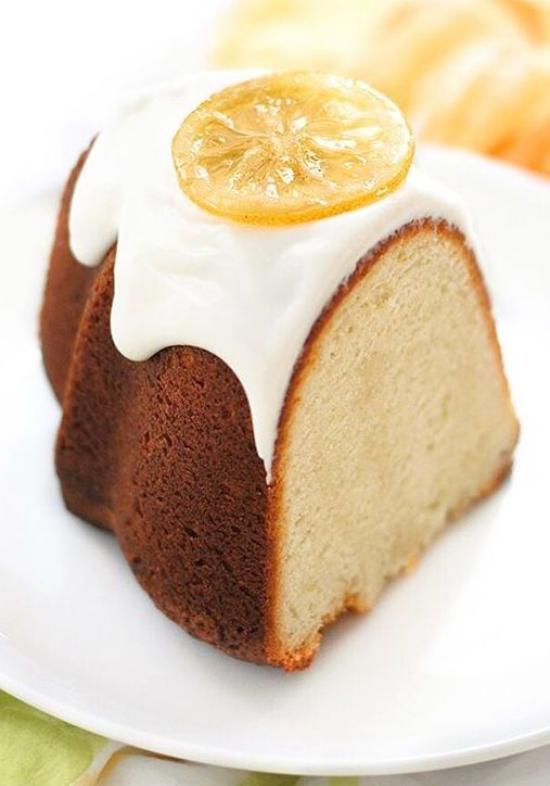 Take a bite out of heaven with this Lemon Buttermilk Pound Cake! #Sweet #Dessert #Cake