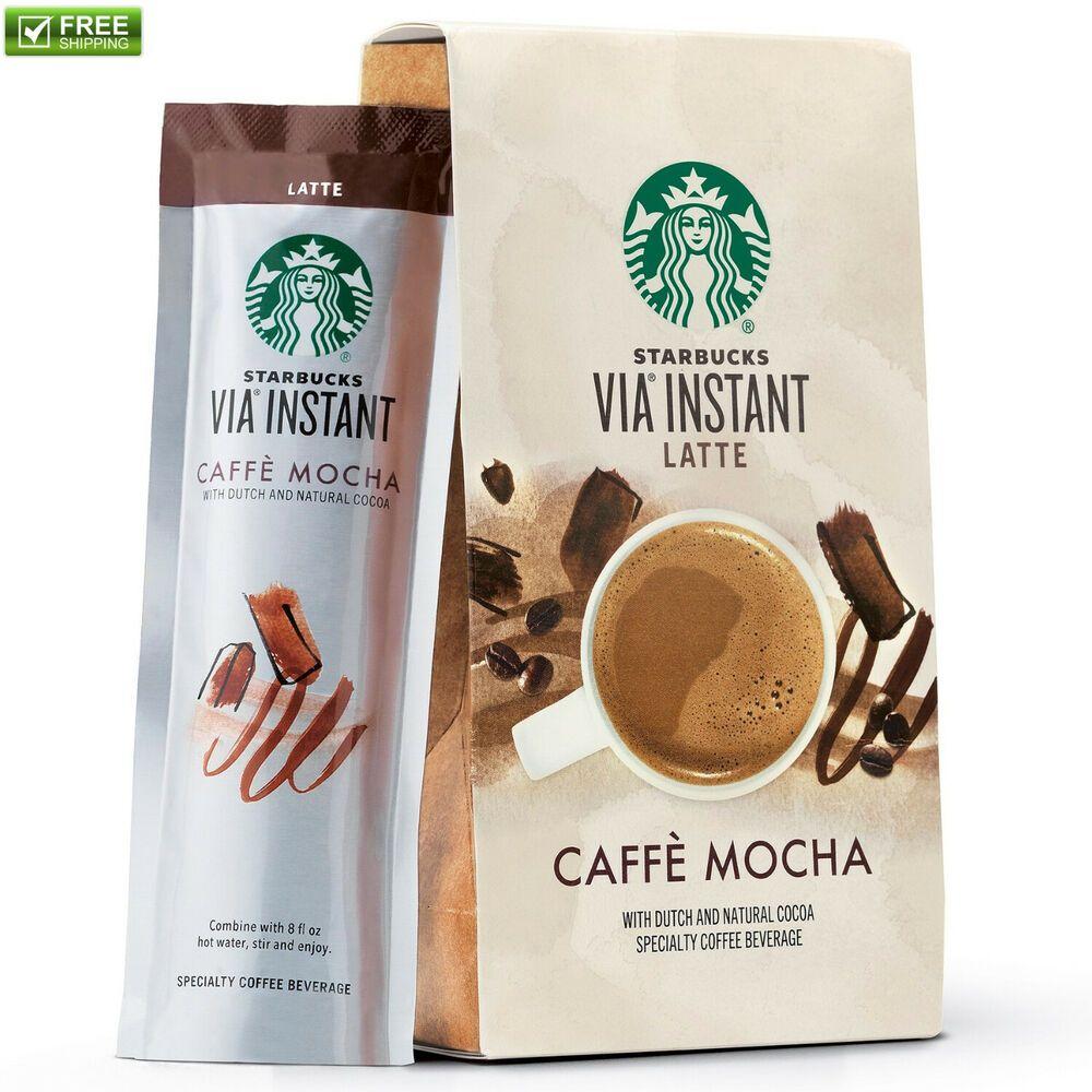 Starbucks VIA Instant Coffee Caffe Mocha Latte 6.5 Oz Box