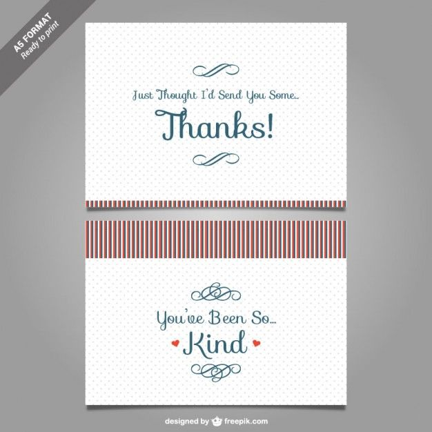 Thank you card template vector Free Vector Gift Card Pinterest - thank you card template