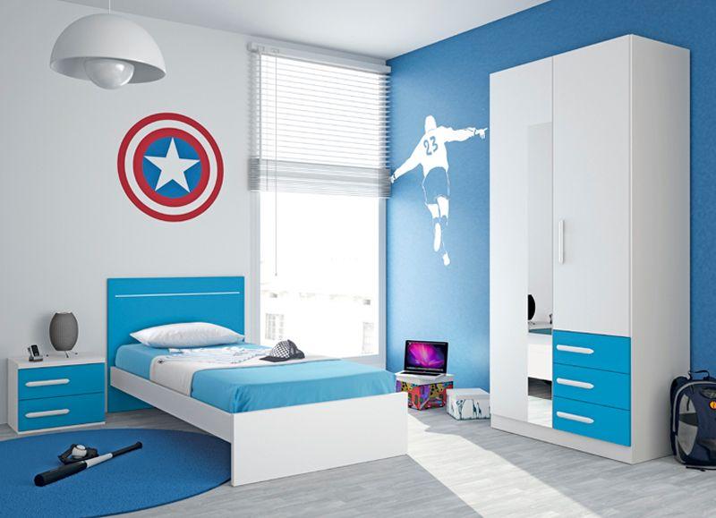 Colores para pintar un dormitorio para m s informaci n - Habitaciones infantiles azules ...