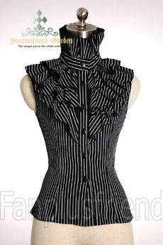 Aristocrat Frilly Jabot Lacing-up Corset Vest