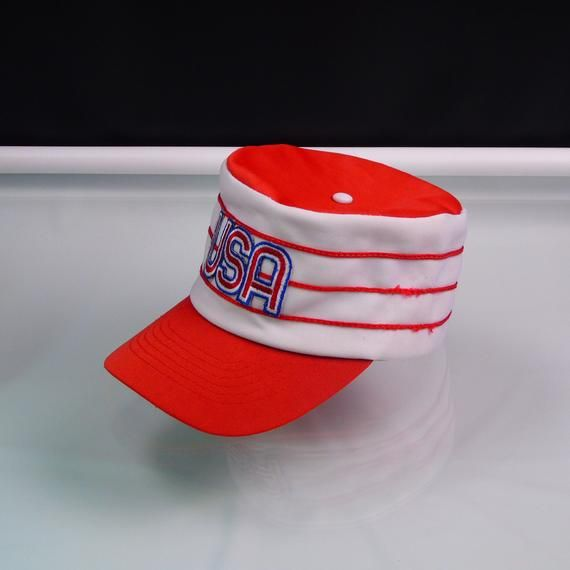 bb3158574 USA Team MLB Pillbox Snapback Cap Vintage 1970s Universal Industries ...