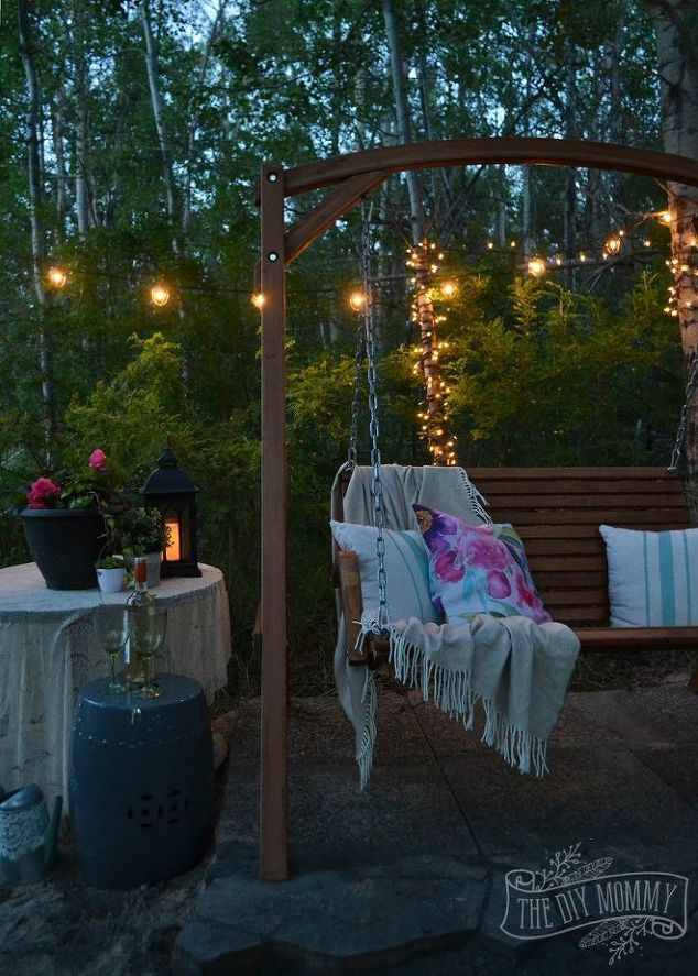 Ideas for creating a charming and romantic outdoor retreat.