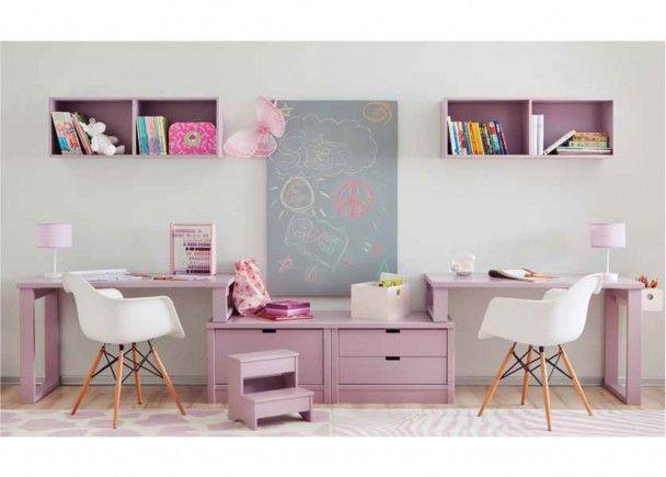 Zona de estudio doble 313 132014 escritorios dobles for Escritorios dobles juveniles