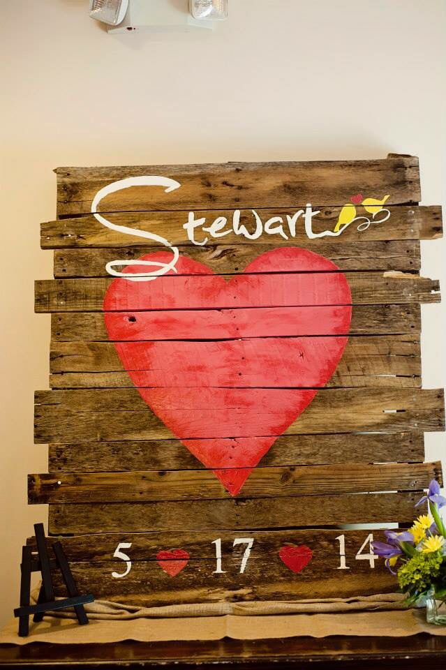 Have your guests sign the Heart. Makes great new home decoration!