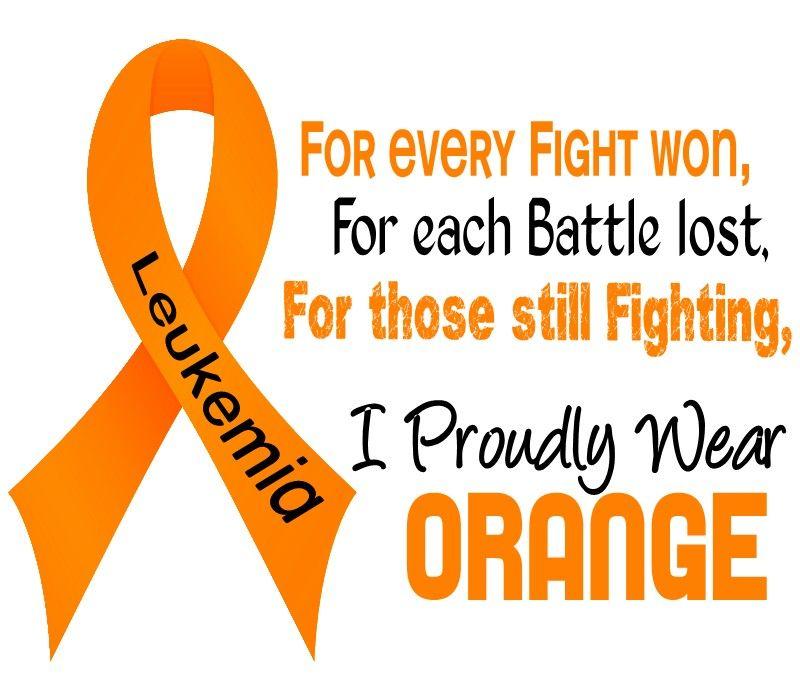 orange ribbon for Leukemia Leukemia awareness Cancer awareness