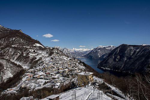 Veduta dal Monte Brè - Lugano, Italy