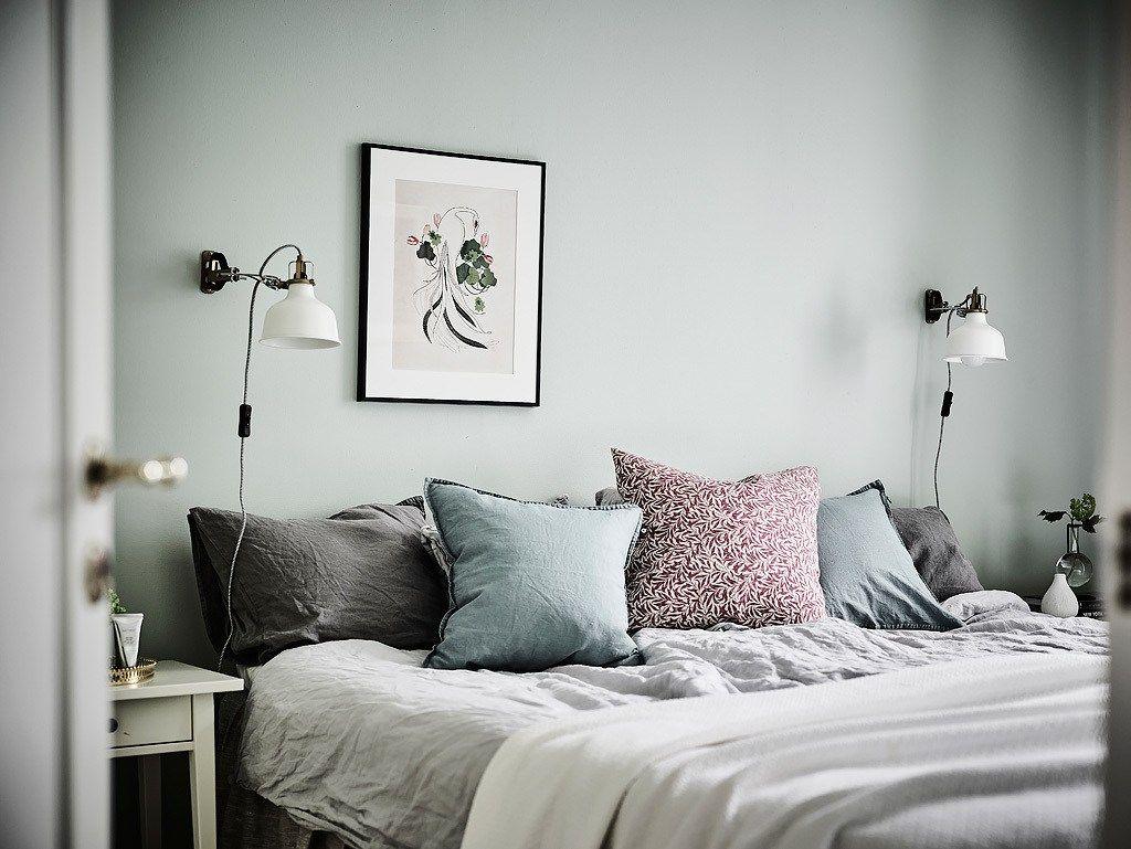 Gris perla, mint y detalles elegantes   Decoración gris, Salón ...