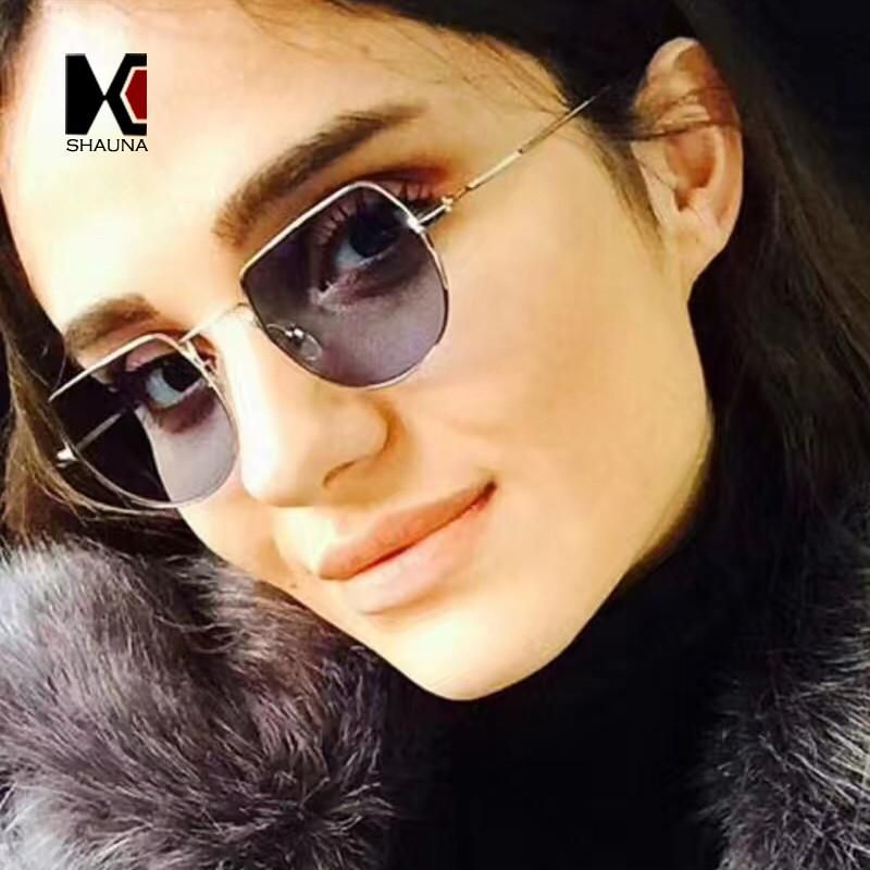 0912630b79b SHAUNA 10 Colors Fashion Women Square Sunglasses Trend Men Metal Frame  Tint Clear Lens Glasses  iwant  cool  instalike  sweet  style  shopping   stylish ...