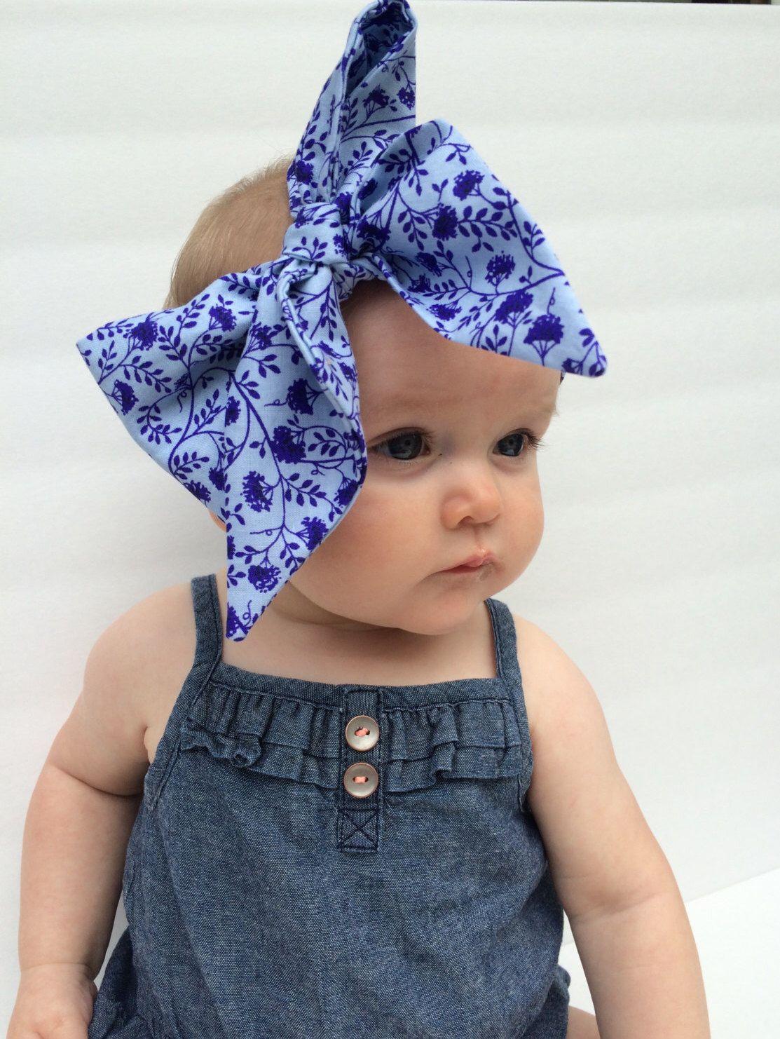 Floral Head Wrap Cotton Head Wrap Head Wrap Bow Baby Head Wrap