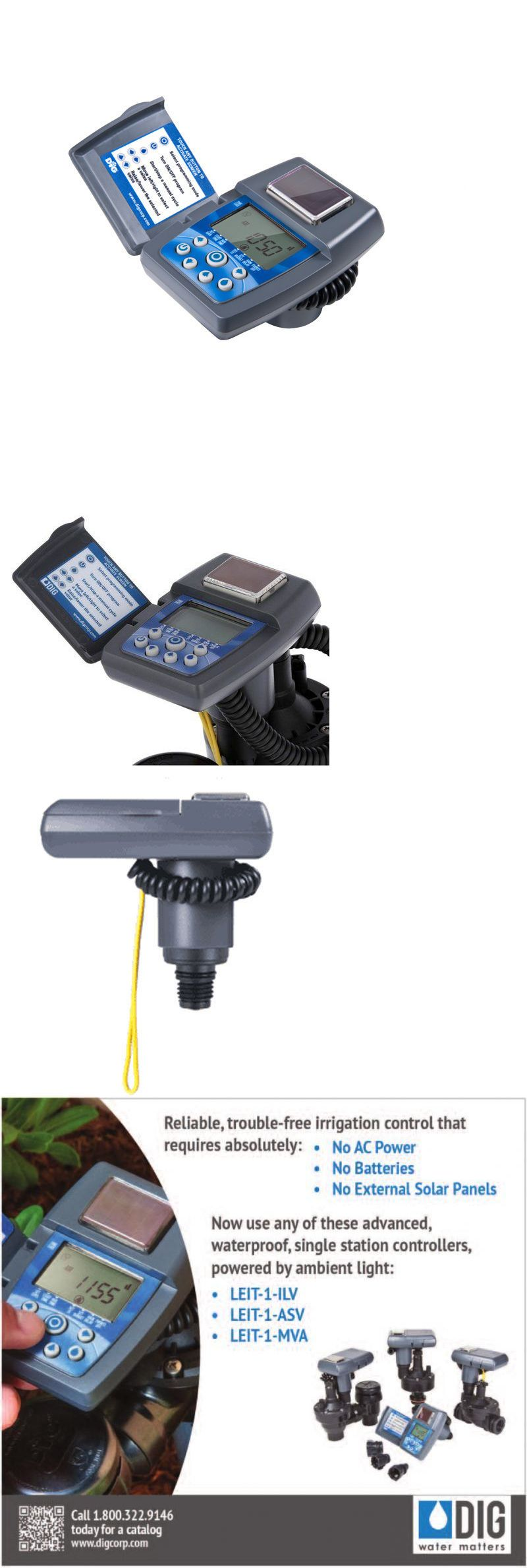 Dig Leit 1 Single Station Solar Irrigation Controller Includes Adapters Irrigation Controller Drip Irrigation Irrigation