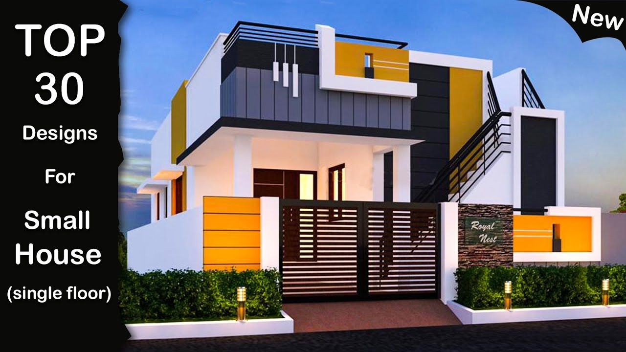 30 Beautiful Small House Front Elevation Design Ground Floor Elevation Row House Design House Designs Exterior Small House Elevation Design