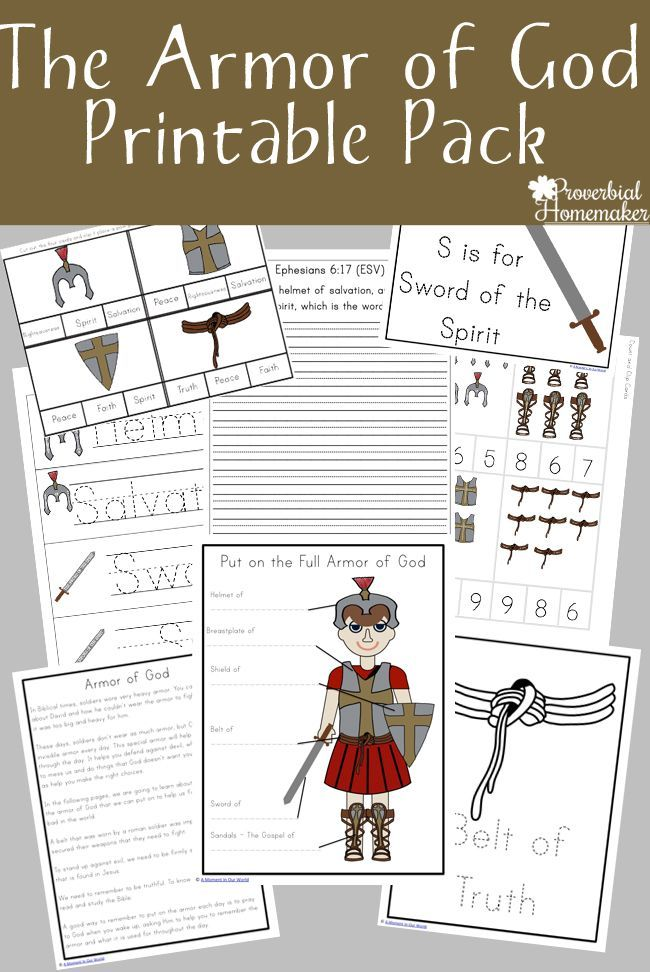 Armor of God Printable Pack   Dominical