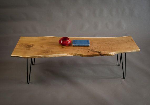 Reclaimed Black Locust Coffee Table Live Edge By Elpisworks Living Table Live Edge Table Coffee Table