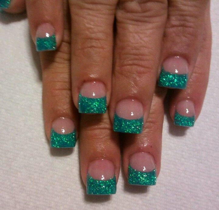Acrylic nails... Teal | My Nails & Nails i like | Pinterest | Teal ...