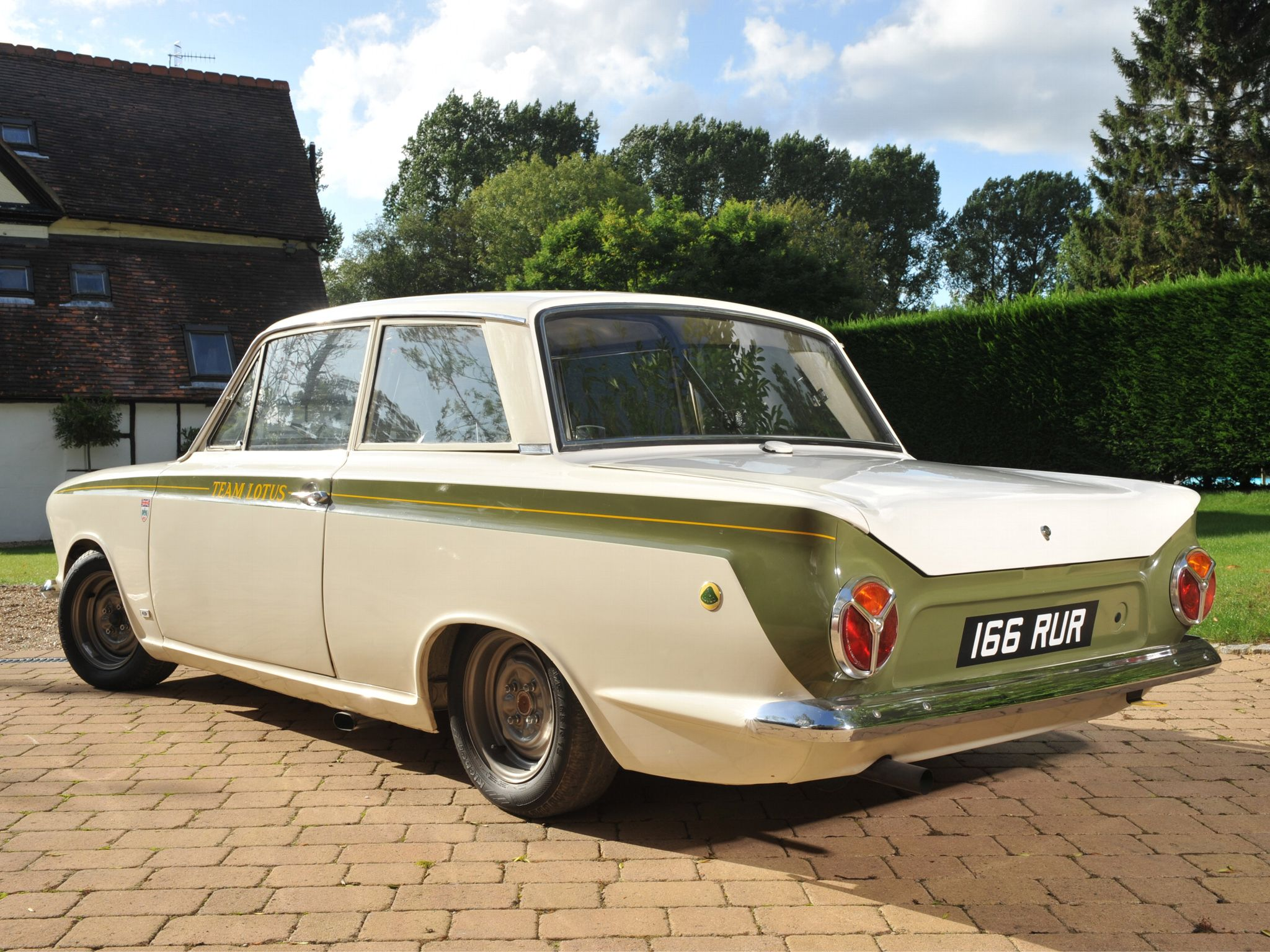 Lotus cortina my dad had one of these sad that he had to sell