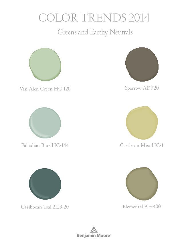 Earthy Paint Colors benjamin moore color trends - greens and earthy neutrals | diy