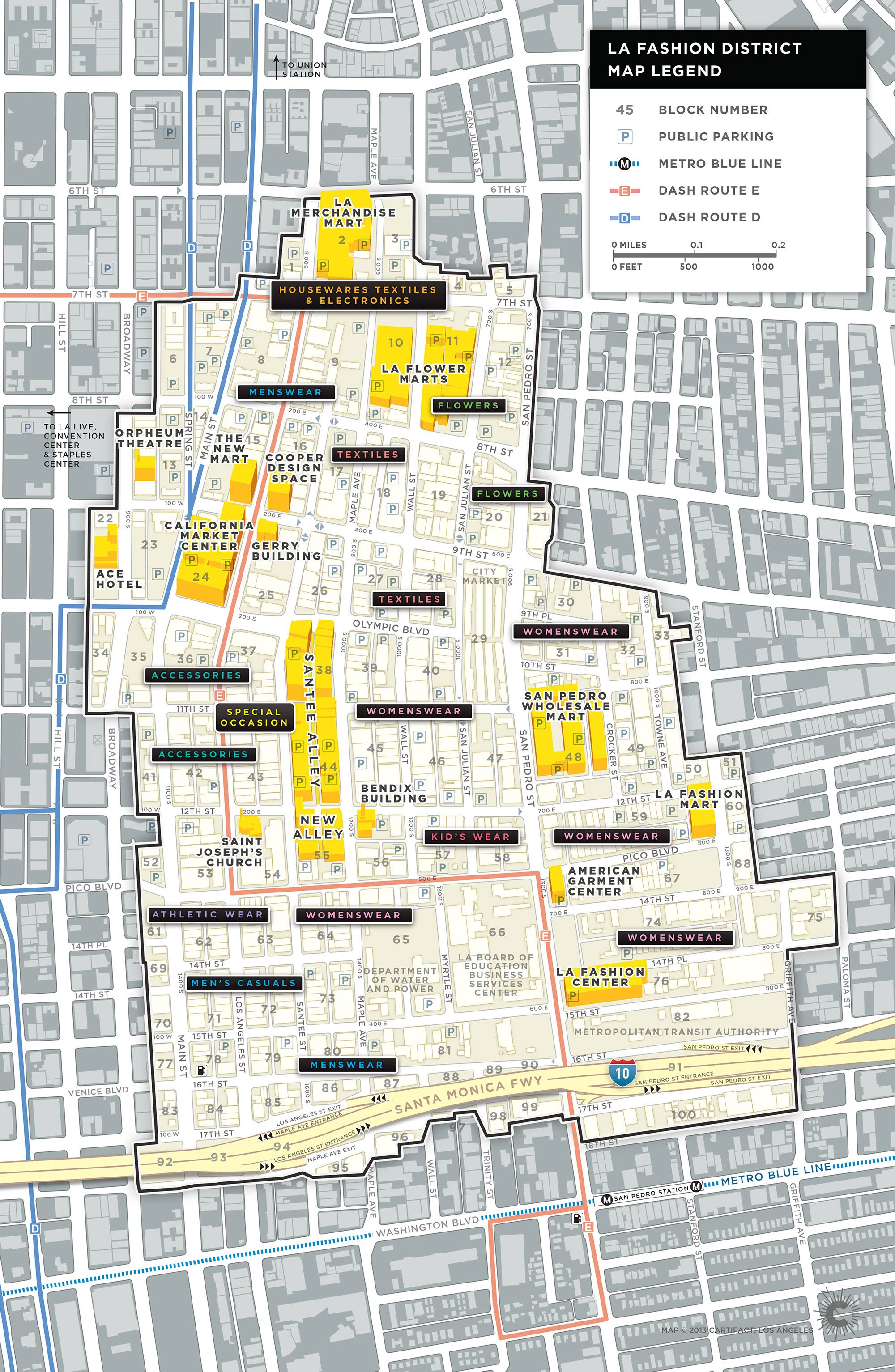 Fashion District Map LAFD Transportation Map Download Map | Family ...