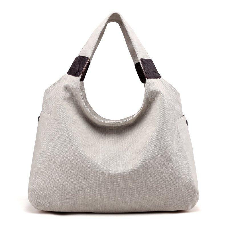 c4f45ecde71 KVKY Brand Canvas Women Bag Women Handbags Fashion Design Ladies Tote Bag  Female Solid Big Shoulder