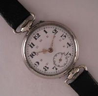 Early L'ALOUETTE '1900 Antique French Engraved  Wrist Watch Perfect Serviced