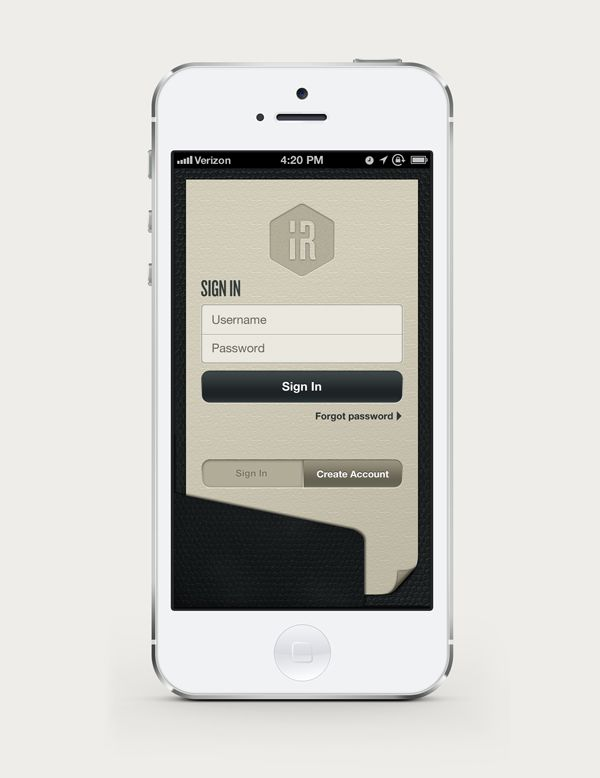 IR Mobile Resume by Colorcubic , via Behance Interface - mobile resume