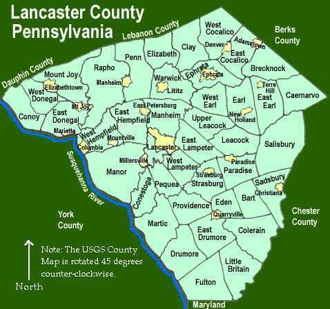 Amish Communities In Usa Map.Lancaster County Townships Genealogy History Amish Country