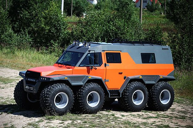 Avtoros Shaman 8x8 All Terrain Vehicle Hiconsumption All Terrain Vehicles Terrain Vehicle Expedition Vehicle