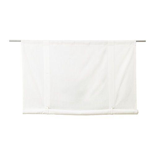 IKEA - EMMIE, Tenda avvolgibile, 120x180 cm, , Il canale sul bordo superiore ti permette di appendere la tenda a rullo direttamente su un bastone per tende.È facile da sollevare e bloccare nella posizione desiderata usando gli occhielli e i cordoncini.