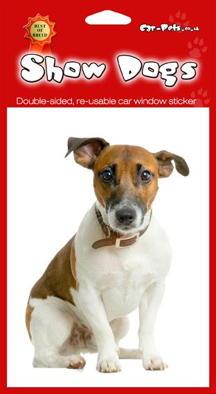 Jack Russell Terrier These Double Sided Dog Stickers Are