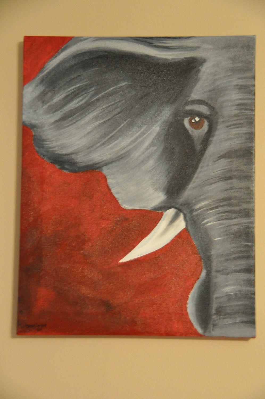 alabama elephant by brittanysartshop on Etsy, $30.00 | Roll Tide Y ...