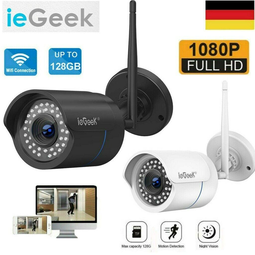 ieGeek 1080P WLAN WIFI IP NETZWERK CAMERA AUßEN ÜBERWACHUNGSKAMERA IR NACHTSICHT