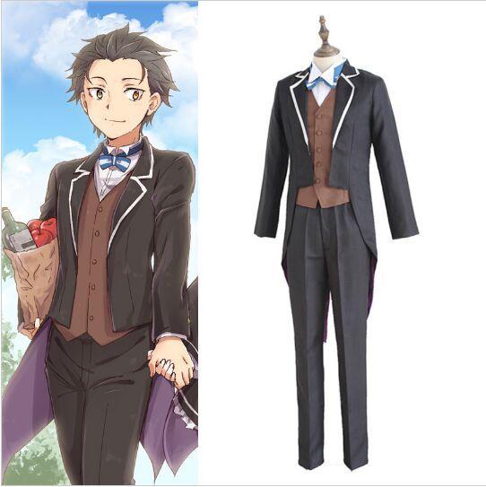 Re:Zero kara Hajimeru Isekai Seikatsu Subaru Natsuki Butler Suit Cosplay Costume