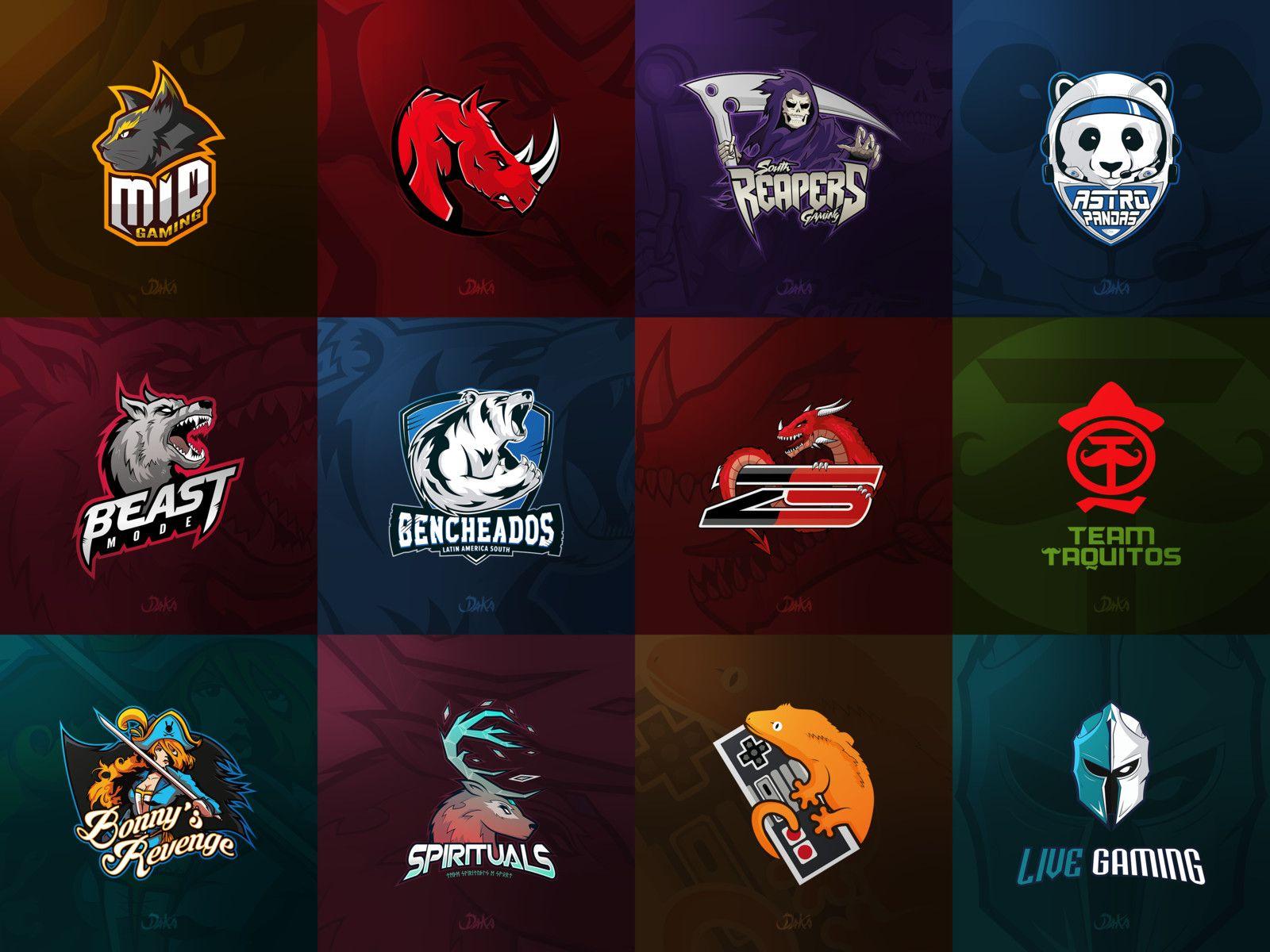 Download E Sport Logos Daka Dibuja On Artstation At Https Www Artstation Com Artwork Qrldz Professional Graphic Design Graphic Design Logo Logo Design