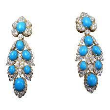 """Résultat de recherche d'images pour """"van cleef and arpels turquoise clover necklace"""""""