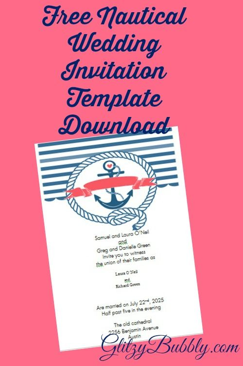 Download and create your own diy free editable nautical wedding - free invitation template downloads
