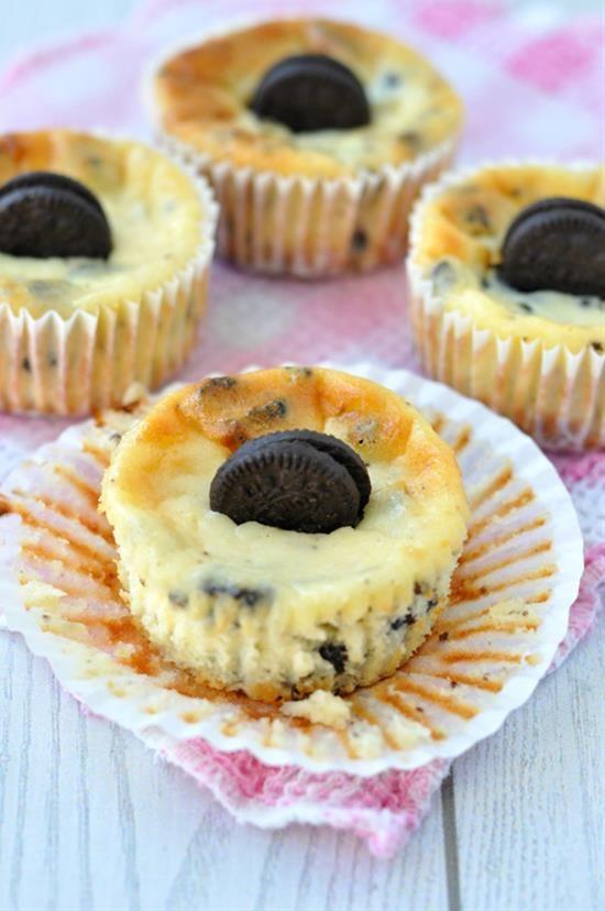 Mini Oreo Cheesecakes Recipe Desserts Pinterest Cheesecake