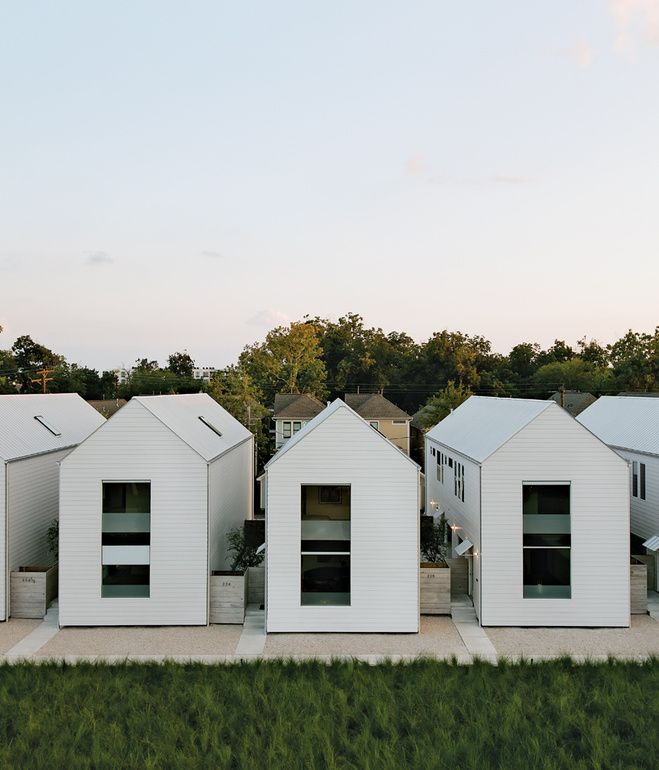 The Series Of Pitched White Buildings Was Inspired By The