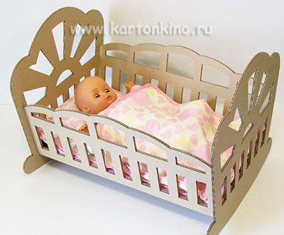 Картон кровать своими руками 45