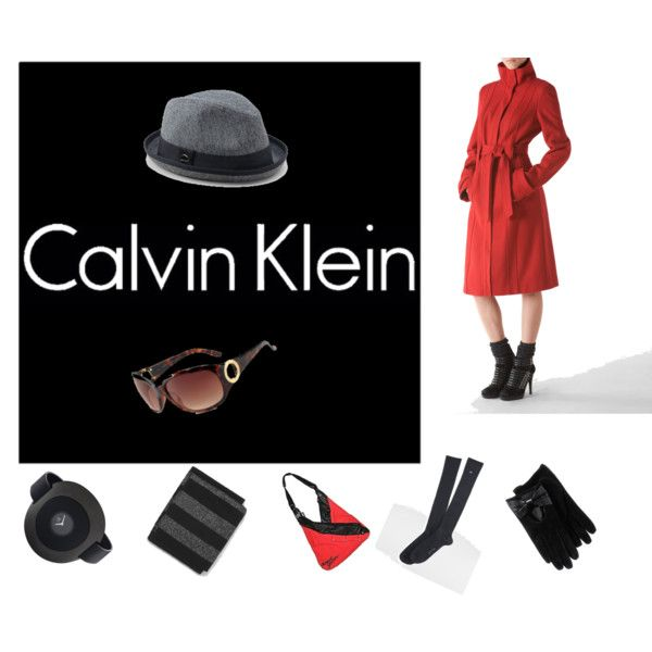CK red and black, created by horsieb on Polyvore