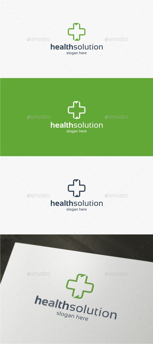 Health Solution Logo Template Logo Templates Symbol Logo And Logos