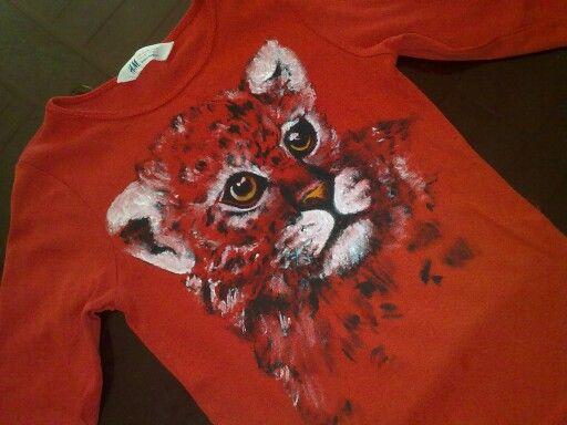 T-shirt mit trxtil Farbe designt  ;-)