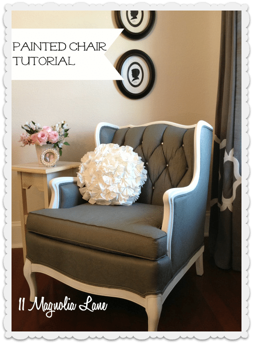 Tutorial: How to Paint Upholstery Fabric and Completely Transform a Chair! | 11 Magnolia Lane