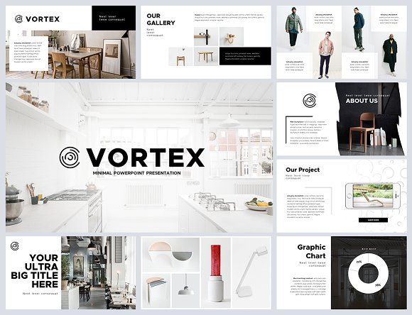 vortex minimal powerpoint template | mock up, creative powerpoint, Presentation templates