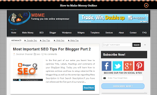 Beautiful Mbme Style Seo Friendly Premium Blogger Template Free Programming Languages Tutorial Tutorials