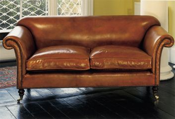TwoSeater Ibsen Sofa in Leather Leather Chairs of Bath