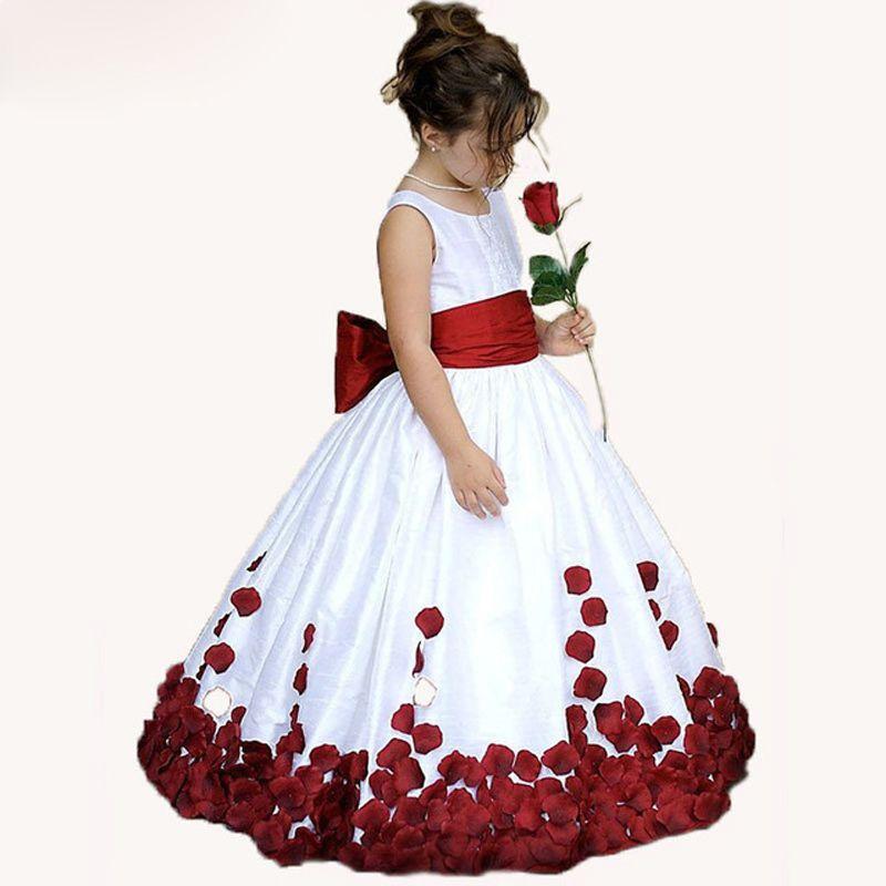 Black and white polka dot flower girl dresses