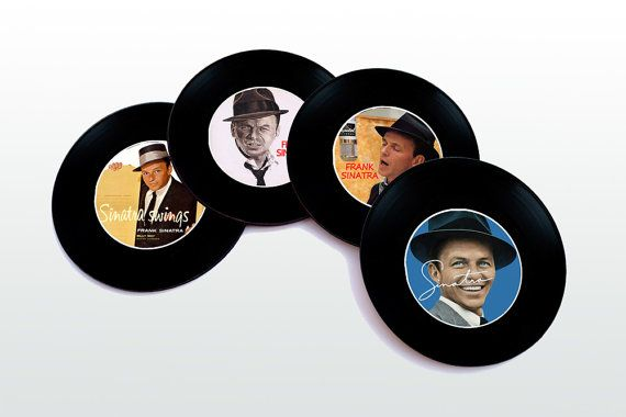 Frank Sinatra Magnetic round Coasters Including by elcomdesign