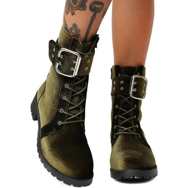 Boots, Lace up combat boots, Velvet boots
