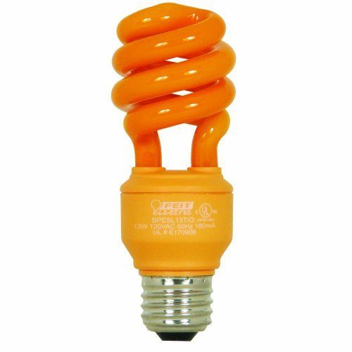 Feit Electric Bpesl13t O 13 Watt Compact Fluorescent Mini Twist Orange Bulb By Feit Electric Http Www Amazon Com Dp B Fluorescent Light Bulb Light Bulb Bulb