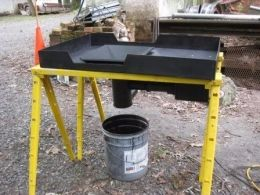 Coal Forge - Homemade coal forge fabricated from steel. Blower was ...